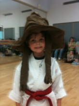 Charlie in Harry Potters sorting hat!
