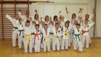 Sensei Emily Waring, Mike King, Jessica King, Hannah Phillips, Ellie King, Sam Waring, Linda Stead, Sensei Kathryn King, Josh Smith, Joe Young, Tamzin Broadley, Harrison King, Dannielle Simpson, Sophie Cliffe, Natalie Robinson, Oliver Pollock, Sam Brought