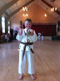 Joe's award from his football club for his dedication to all his sports training. Well done Joe.