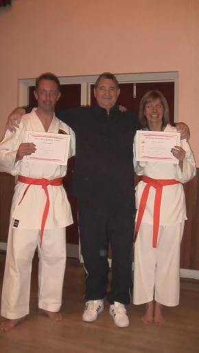 Mike King & Linda Stead with Sensei Dave Warburton