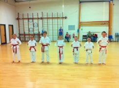 Newly qualified 8th kyu's