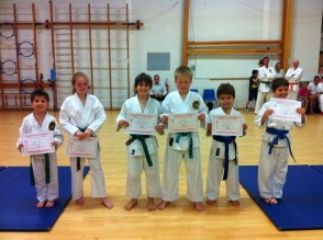 Newly Qualified 5th & 4th Kyu's