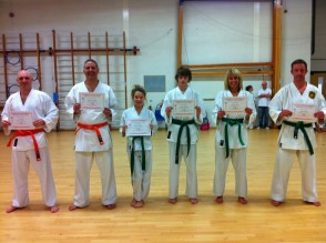 Newly Qualified 6th & 5th Kyu's